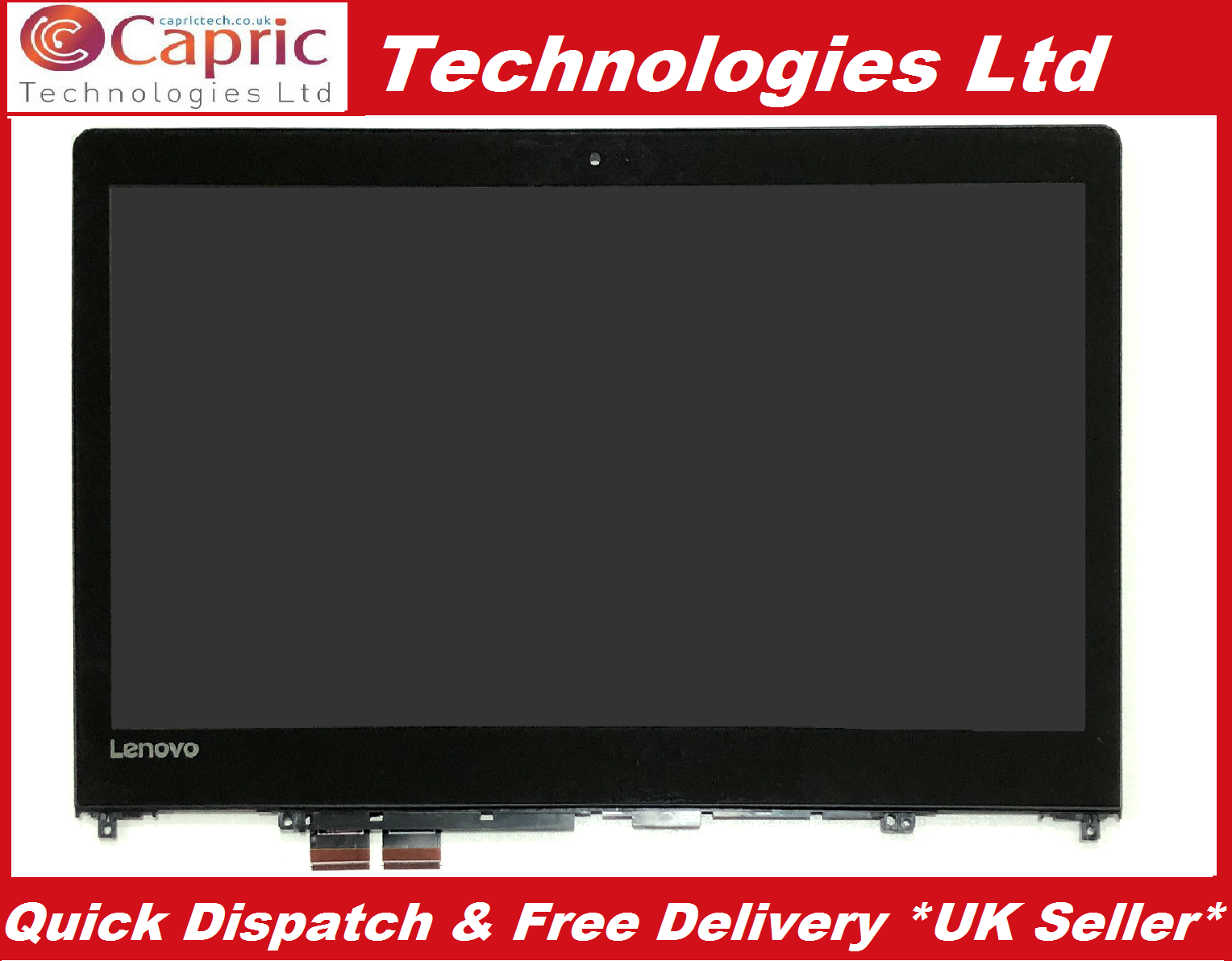 "13.3/"" Lenovo Yoga 2 Pro 20266 LCD Display Touch Screen Digitizer Assembly Bezel"